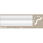 Putuplasta griestu līste LX-110 80x80mm