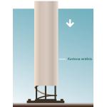 Kartona kolonnu veidņi betonēšanai