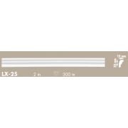 Putuplasta griestu līste LX-25 25x15mm